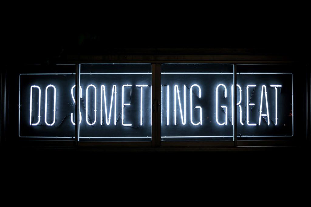 do something great sign
